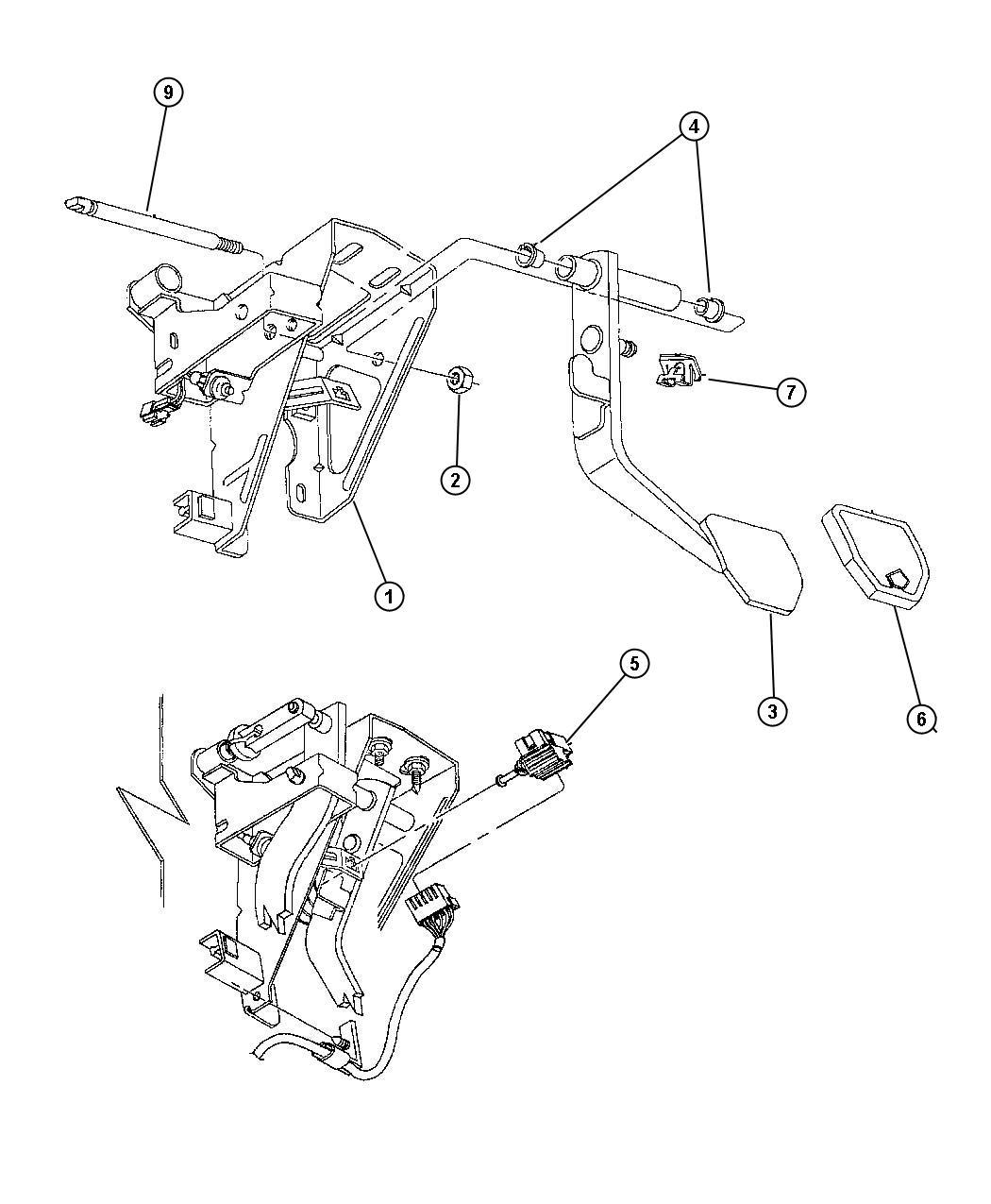 1998 Dodge Neon Pedal, Brake