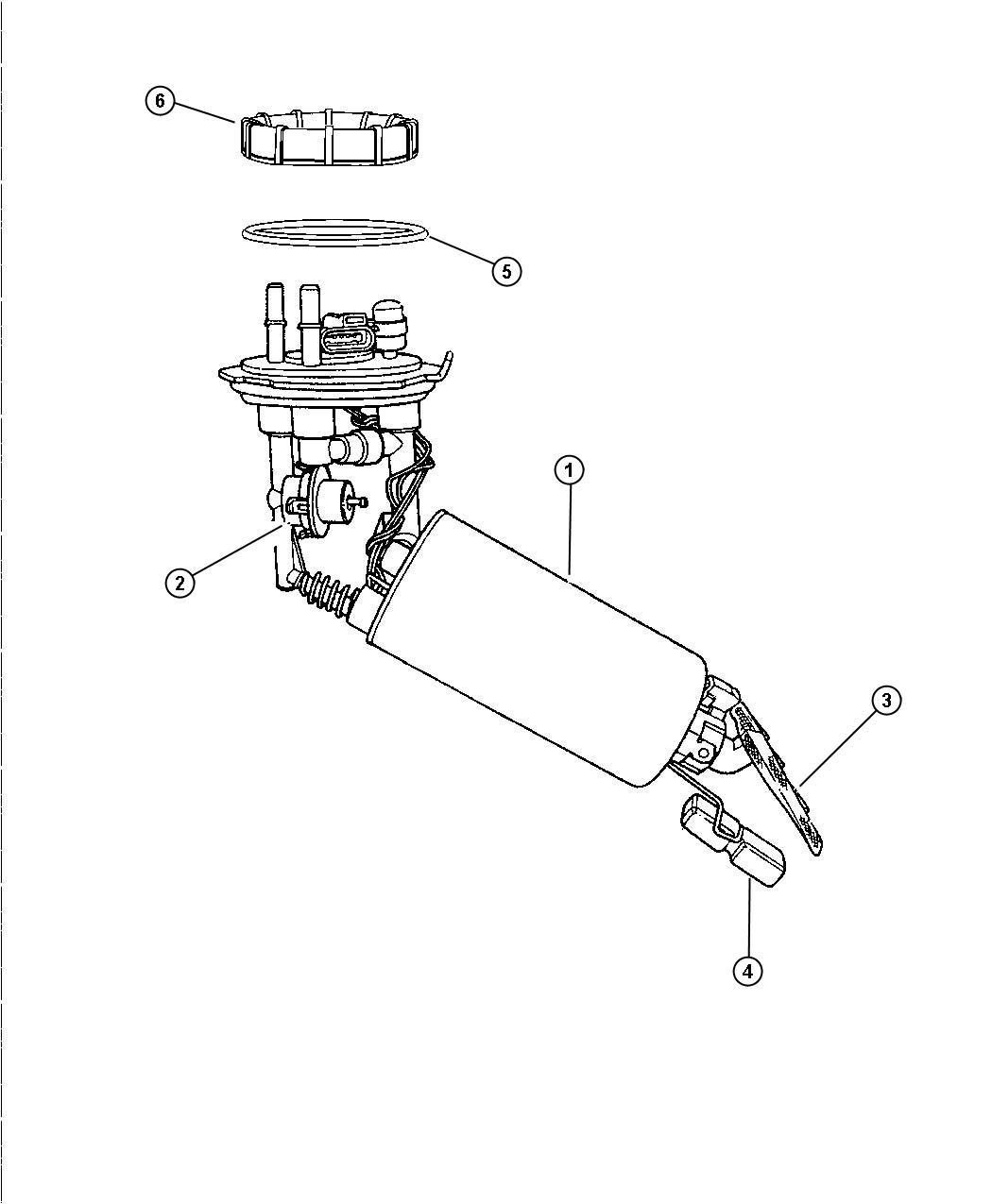 1998 Dodge Stratus Fuel Pump and Level Unit