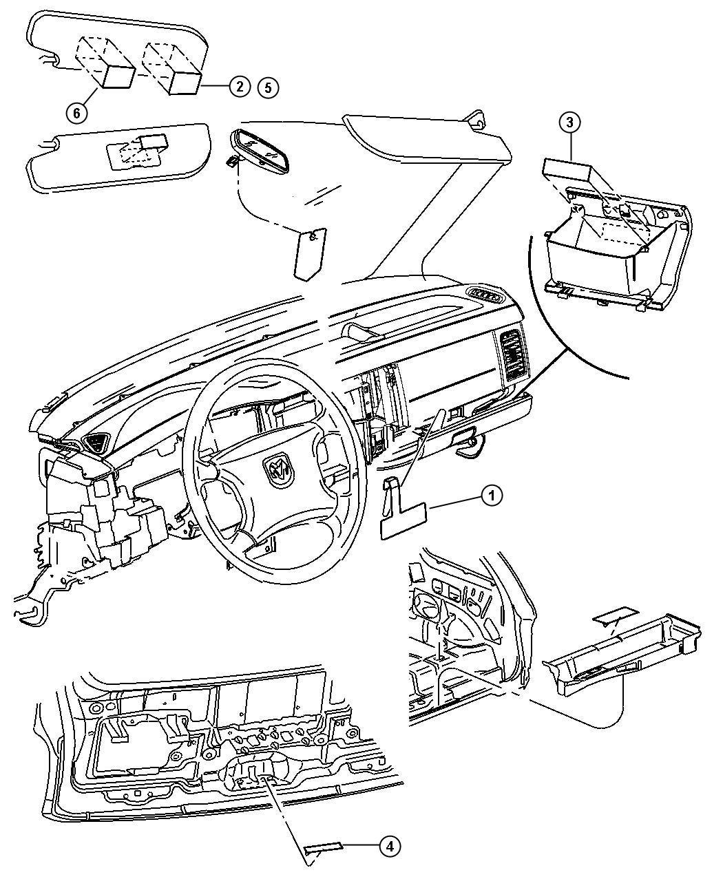 Dodge Durango Instrument Panel Visor And Trim