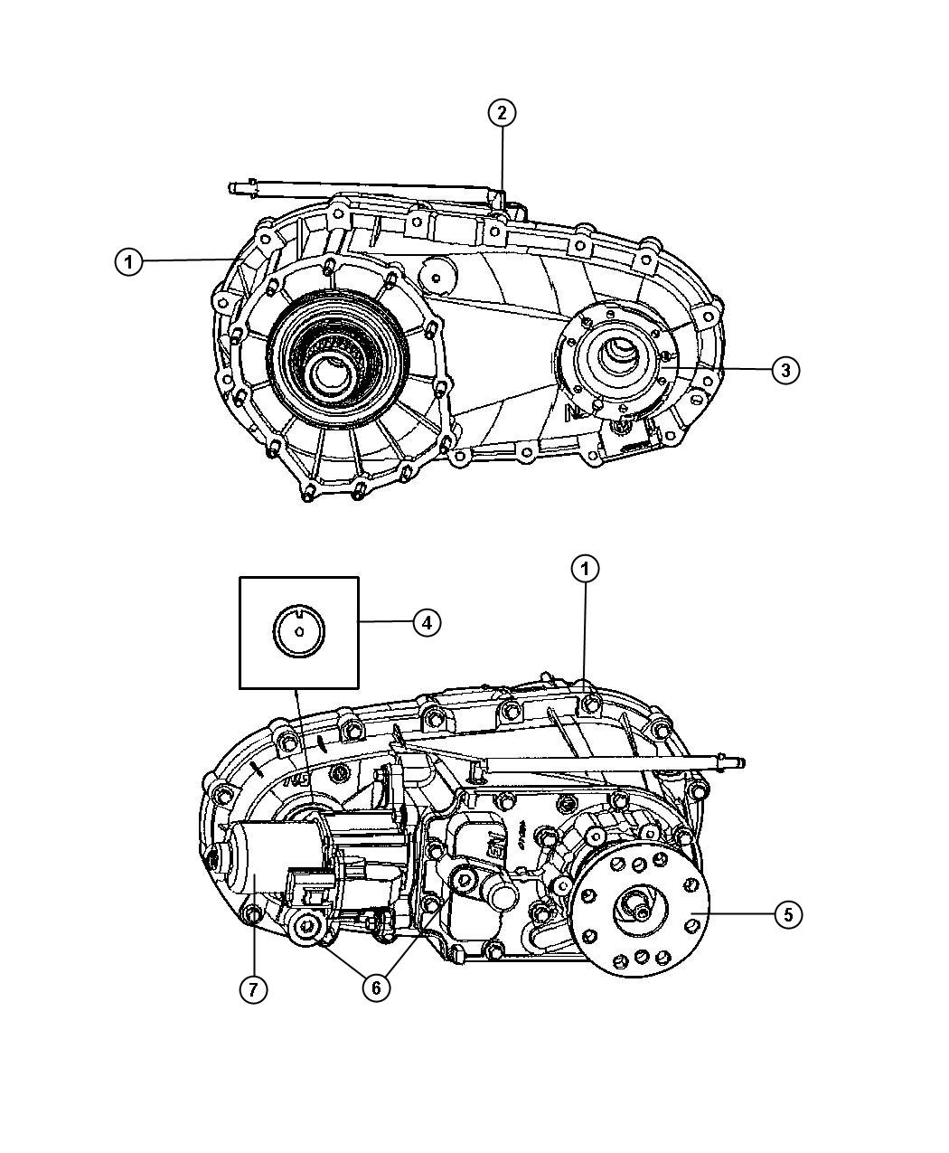 2008 Jeep Grand Cherokee Transfer Case Assembly And