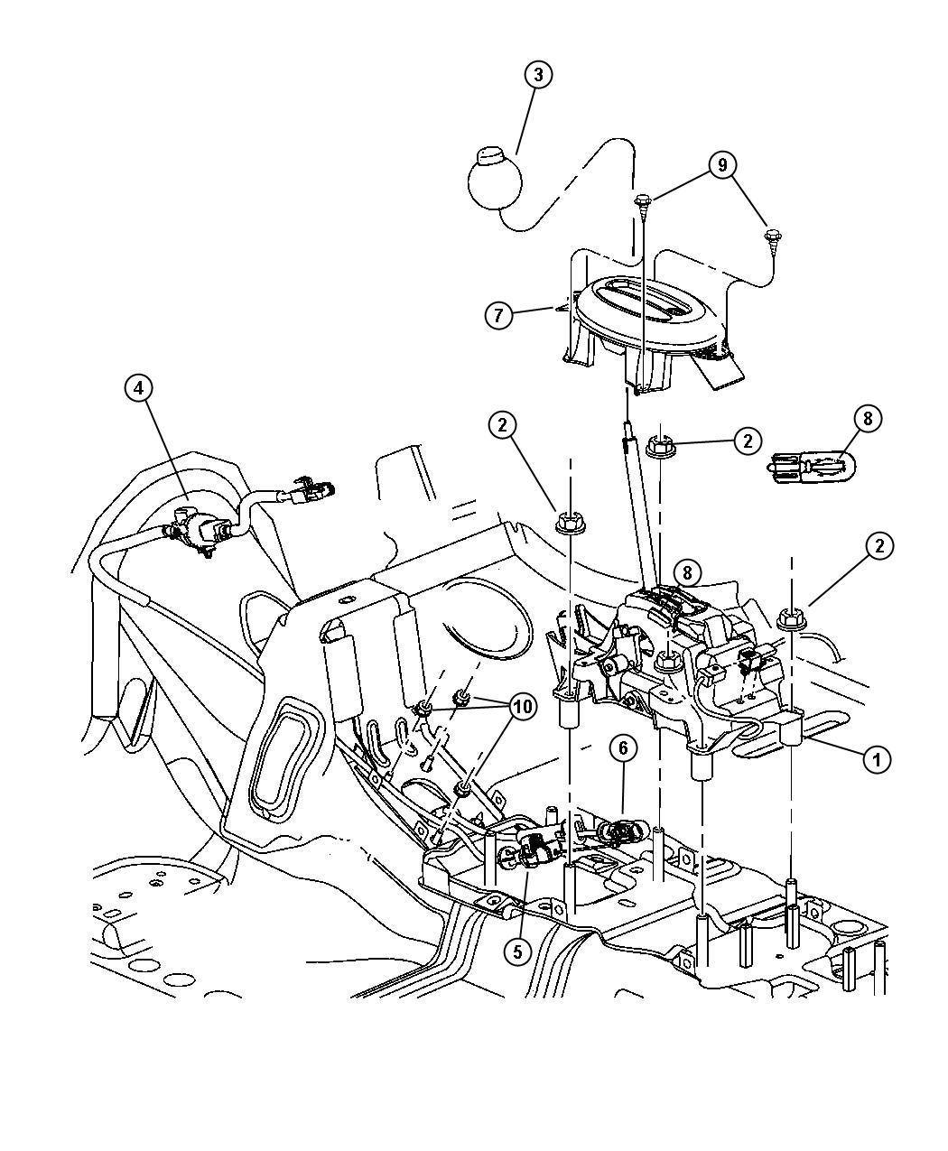 Chrysler Pt Cruiser Gearshift Controls