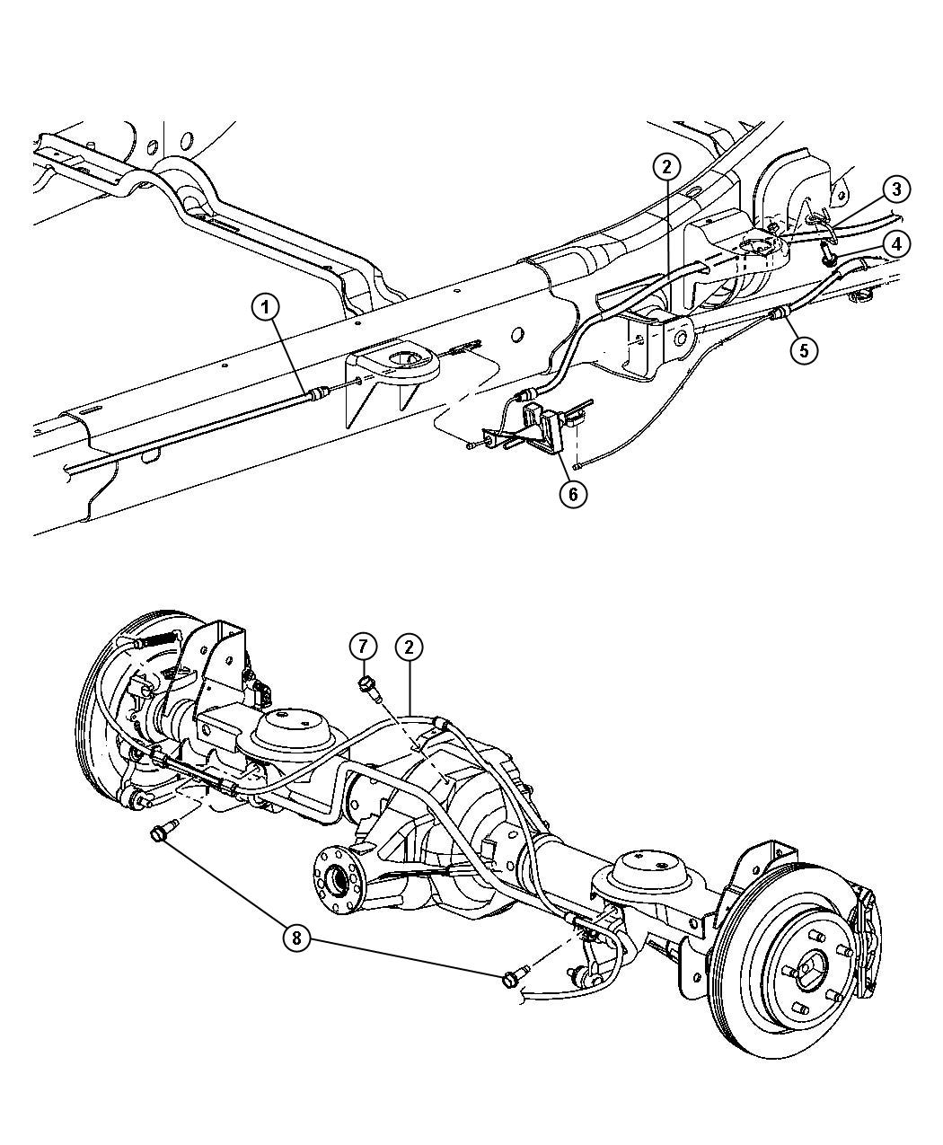 Service manual [2008 Chrysler Aspen Repair Rear Brakes