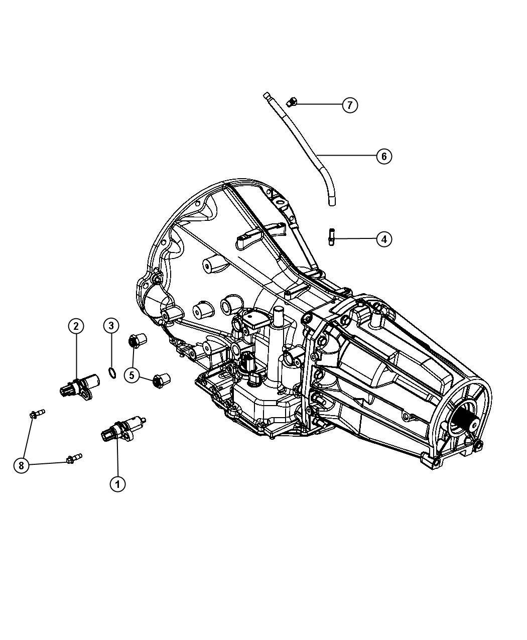 2008 Chrysler 300 Sensors, Vents And Quick Connectors