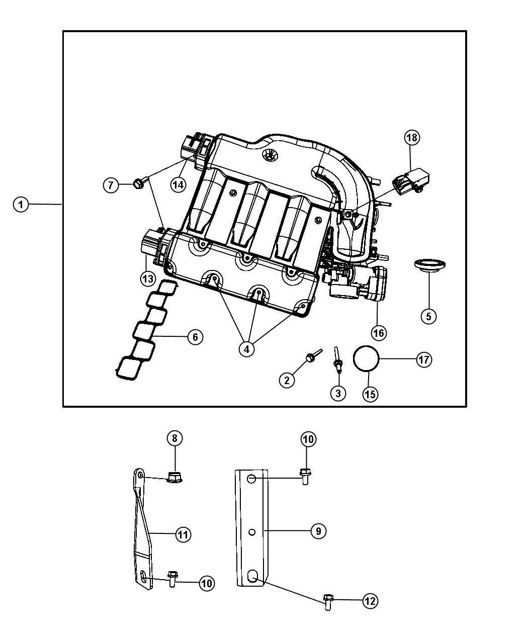 Dodge Journey Intake Manifold Plenum 3 5l Egf