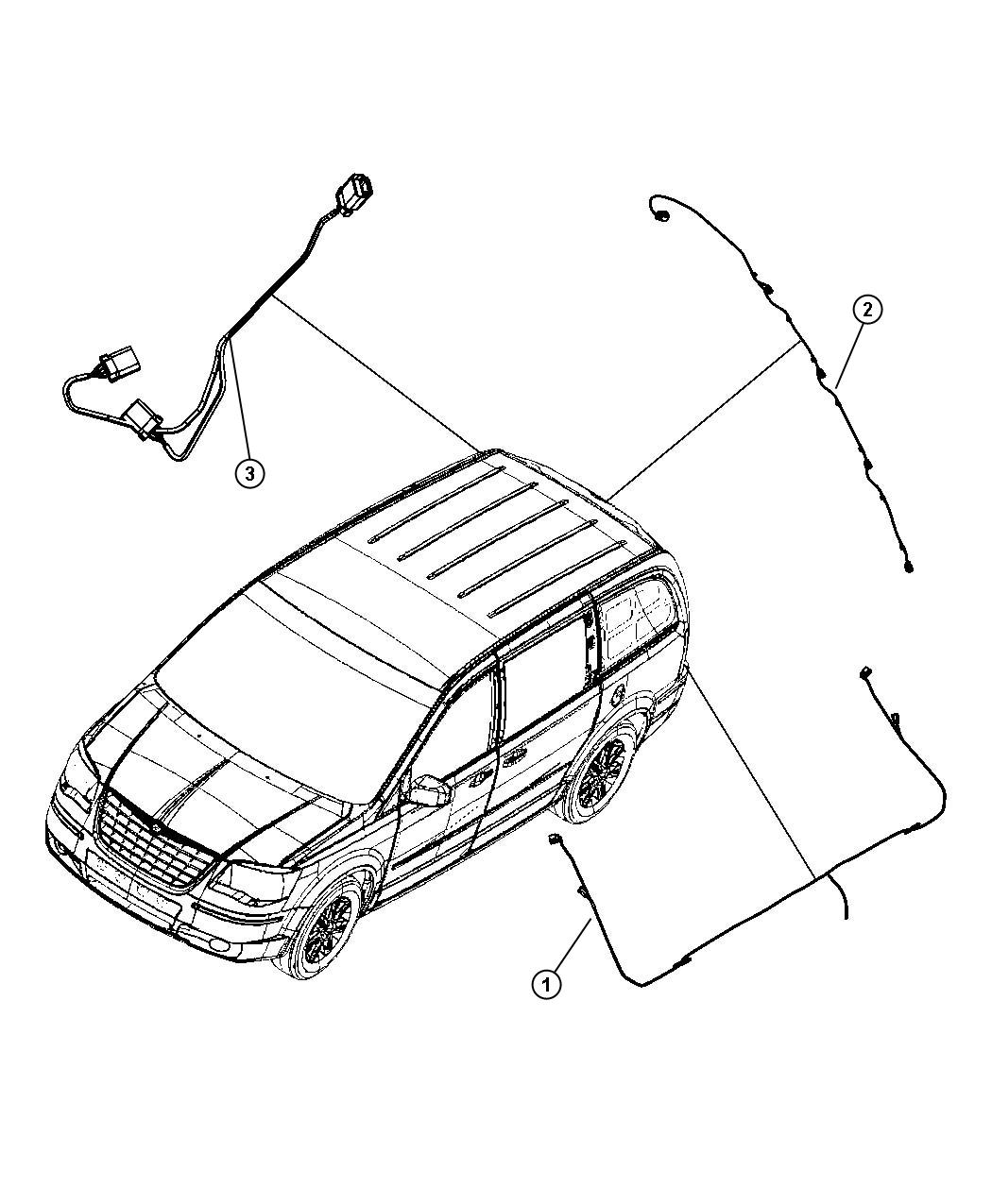 Dodge Grand Caravan Fwd 3 8l V6 Ohv 6 Speed Automatic 62te Wiring Chassis And Underbody