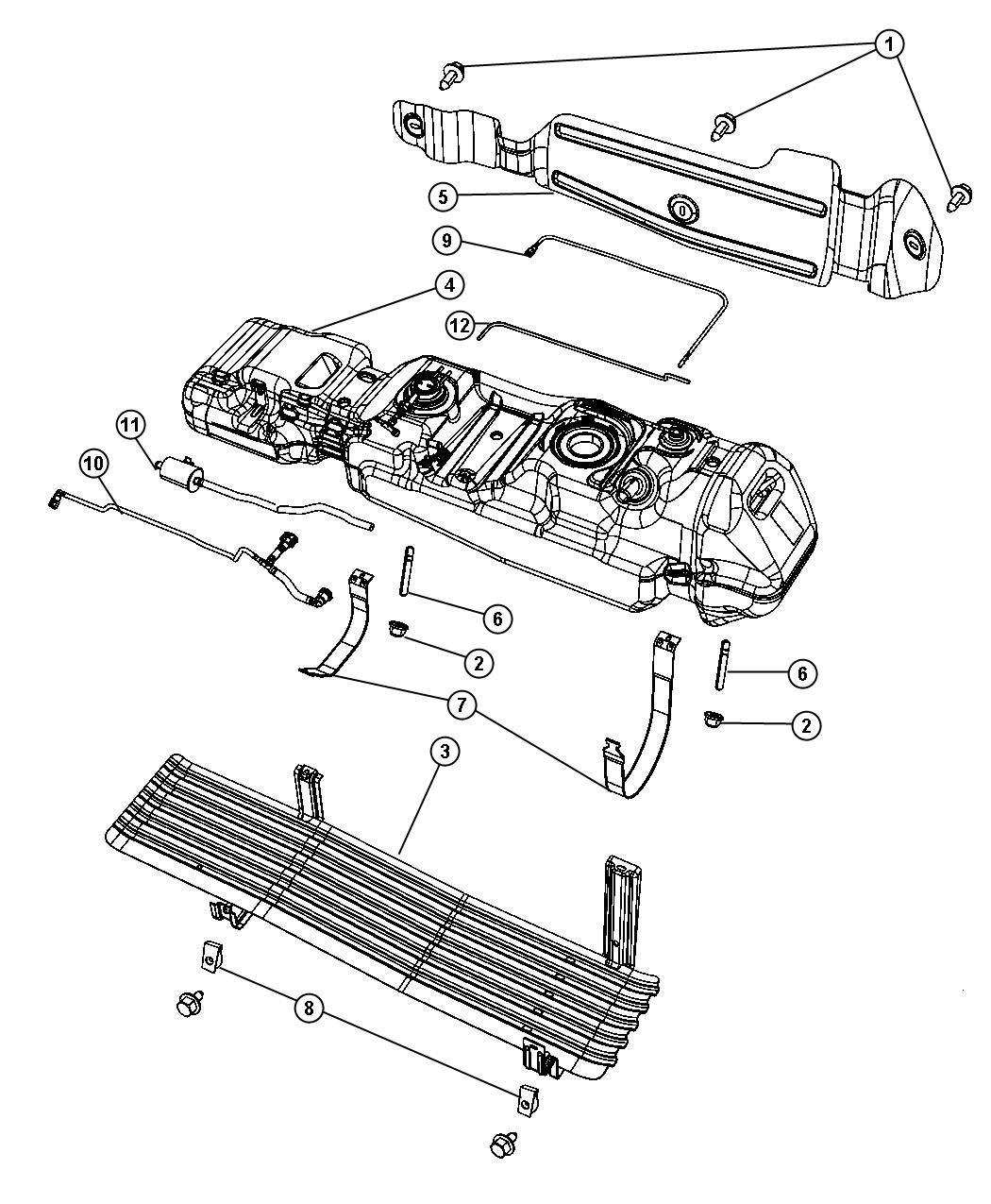 2007 Dodge Dakota 4x4, 3.7L V6, 6-Speed Manual Fuel Tank