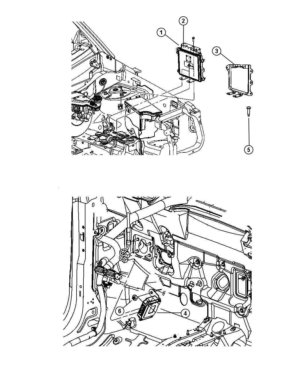 Jeep Patriot Modules Engine Compartment