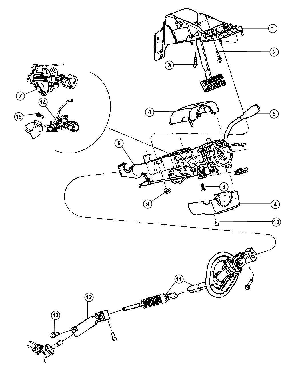2011 Dodge Ram 2500 Steering Column