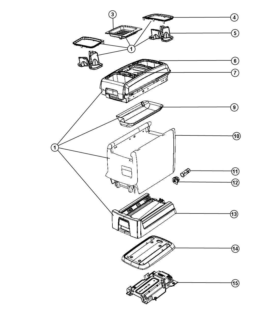 Service manual [1992 Chrysler Town Country Center Console