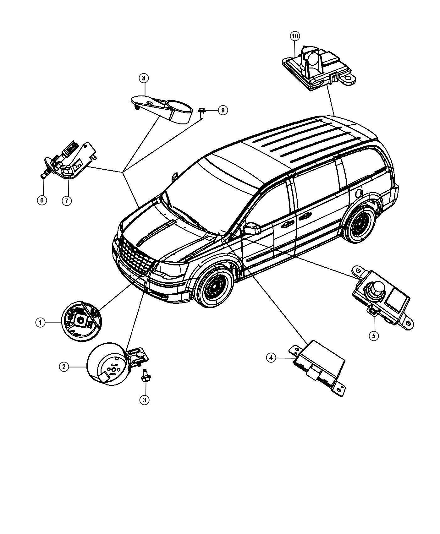 2012 Dodge Grand Caravan Siren Alarm System