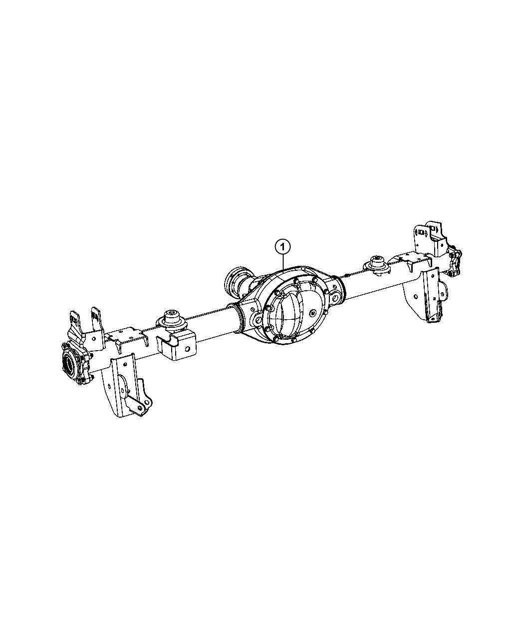 2013 Jeep Wrangler Axle Assembly