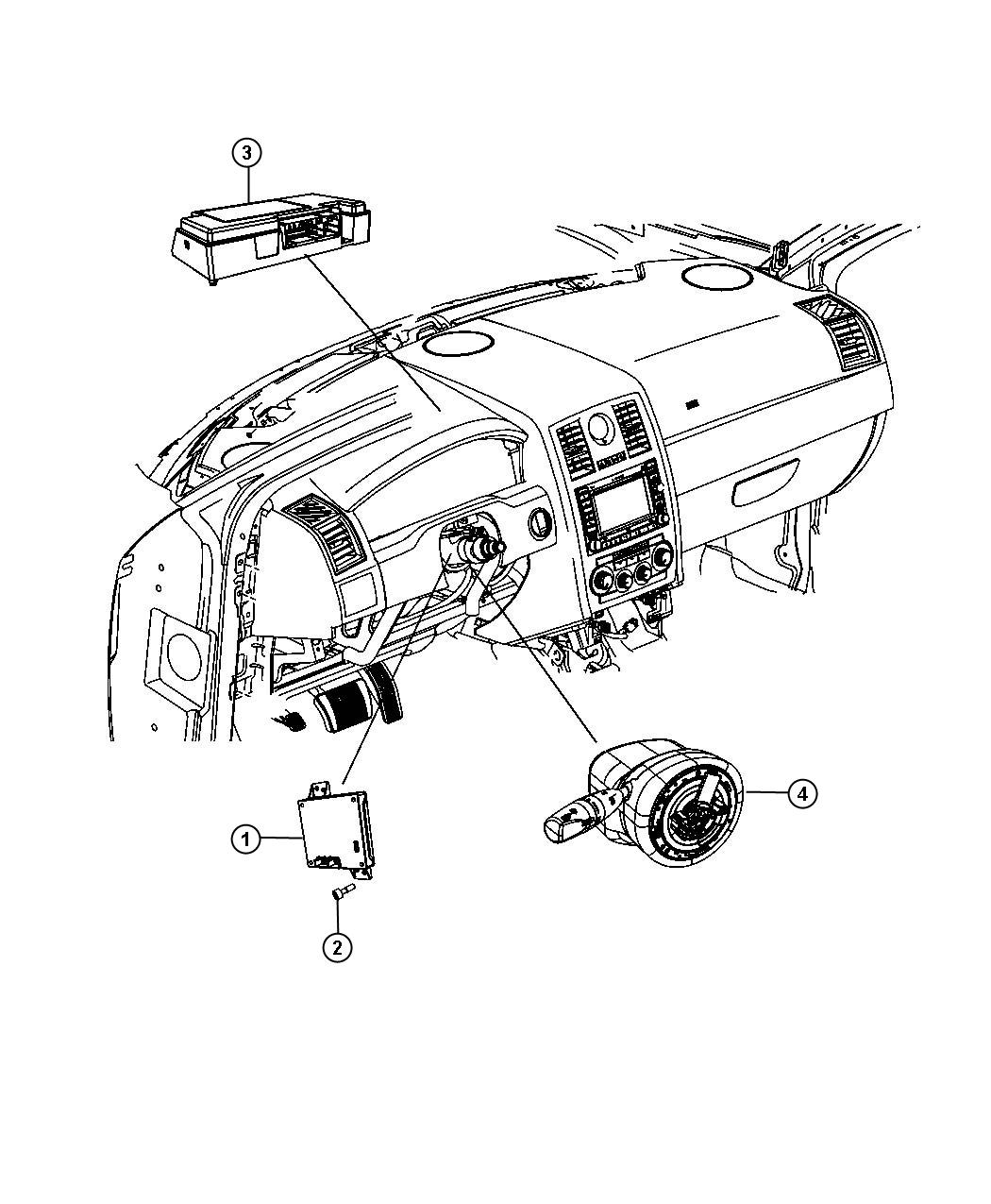 2013 Dodge Challenger Modules Instrument Panel
