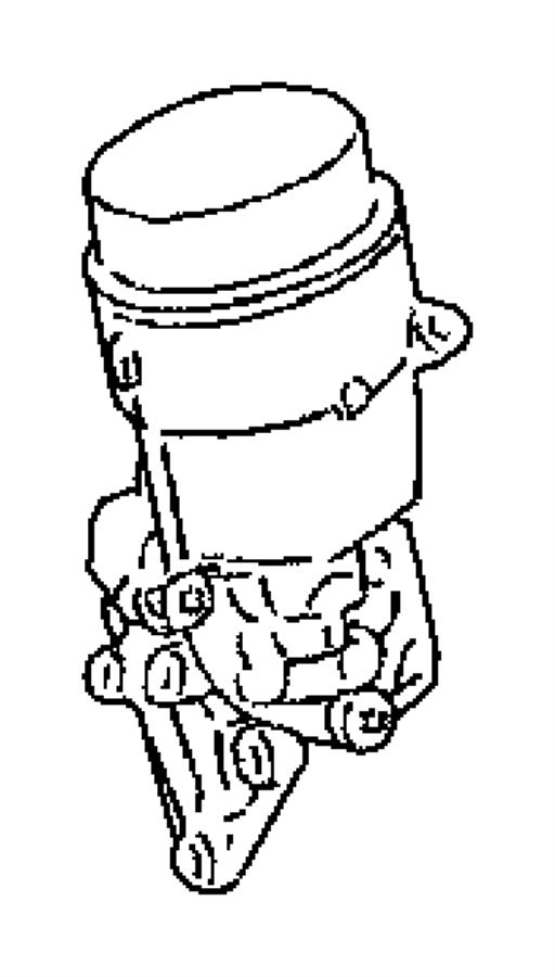 2008 Dodge Sprinter 2500 Engine Oil Cooler And Hoses/Tubes