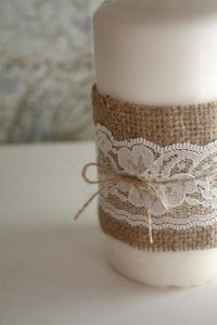 Burlap and Lace Candle  Factory Direct Craft Blog