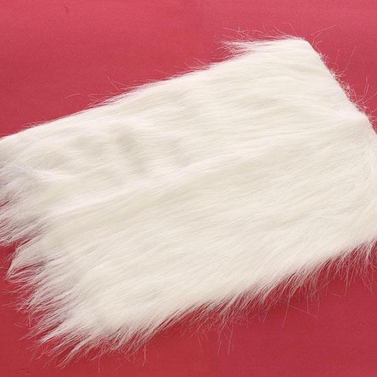 White Long Pile Craft Faux Fur Doll Hair Doll Making
