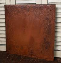 Vintage Rusty Tin Gothic Scroll Ceiling Tile - Ceiling ...