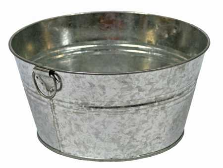kitchen table sizes corner seating galvanized metal washtub - decorative containers ...