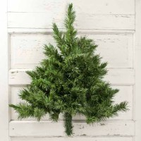 Wall-Mounted Half Artificial Pine Tree - Christmas Trees ...