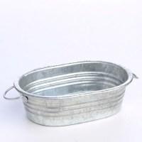 Miniature Galvanized Metal Oval Wash Tub - Miniatures ...