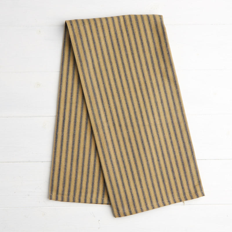 Navy and Natural Stripe Pillow Ticking Dish Towel