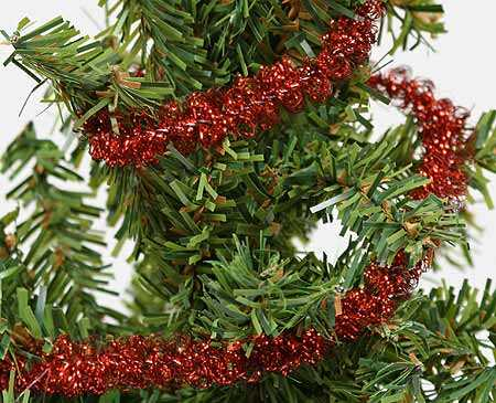 Miniature Red Twisty Metallic Tinsel Garland Whats New