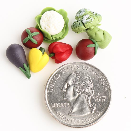 dollhouse miniature garden vegetables