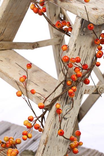 Fall Harvest Bittersweet Berry Garland  Pip Berries