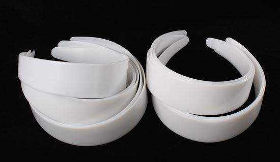 White Plastic Headbands Hair Accessories Basic Craft