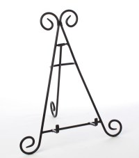 Black Wrought Iron Display Easel - Decorative Plates and ...