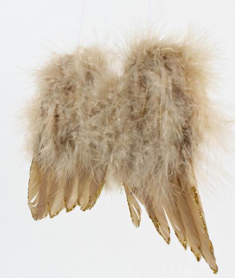 Tan Glitter Feather Angel Wings Angel Wings Doll