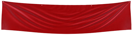 red blank fabric banner