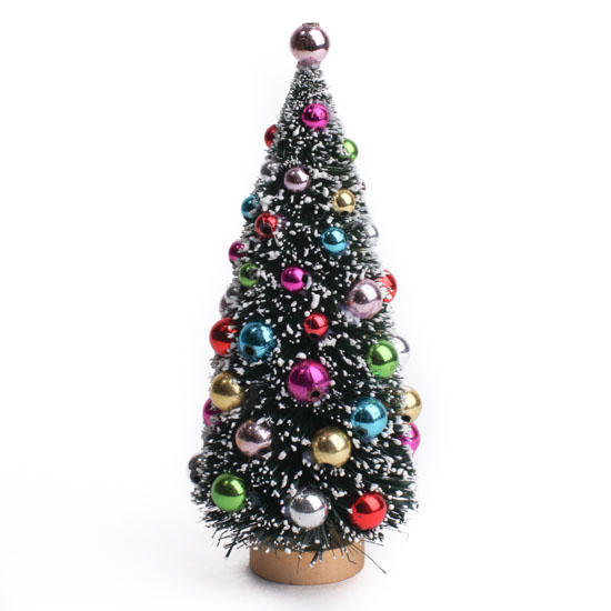 Frosted Bottle Brush Christmas Tree Christmas Miniatures