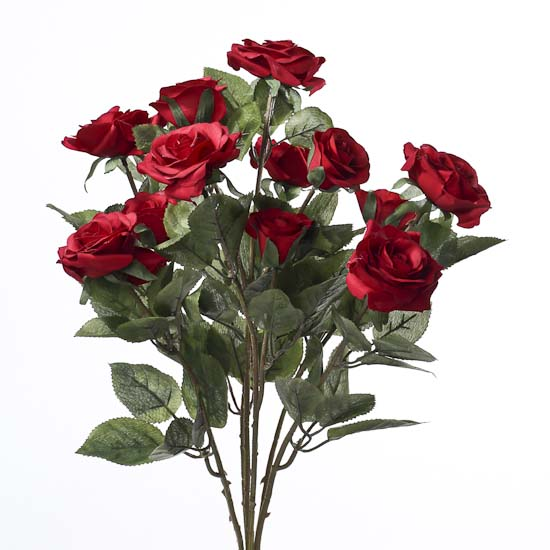 Red Artificial Rose Bush  Bushes and Bouquets  Floral Supplies  Craft Supplies