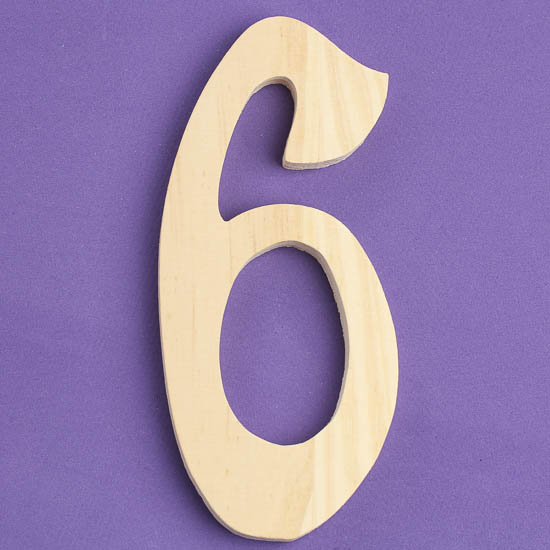 unfinished wood serif number