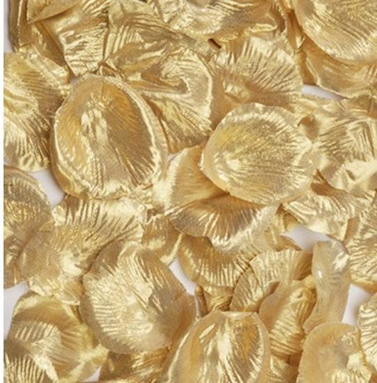 Metallic Gold Silk Rose Petals  Confetti  Table Scatters