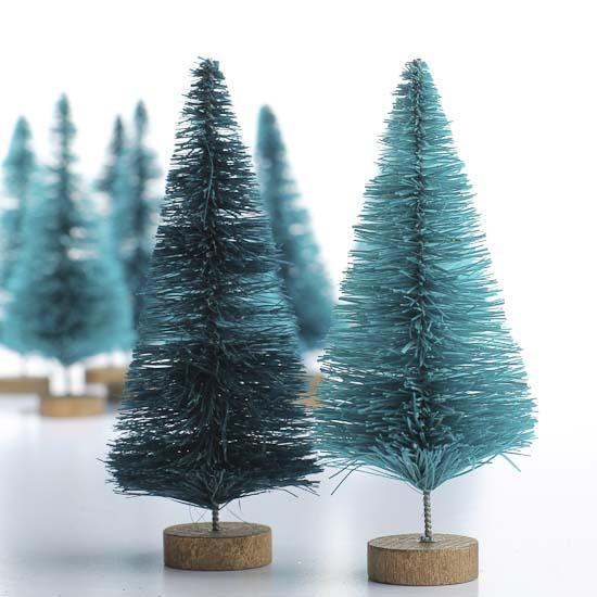 Small Green Bottle Brush Trees  Christmas Trees and Toppers  Christmas and Winter  Holiday Crafts
