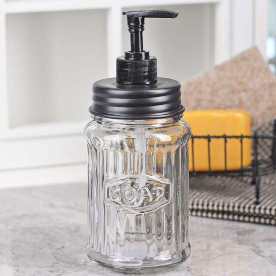 Glass Soap Hoosier Jar Dispenser Jar Lids Basic