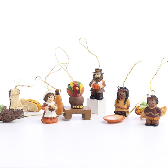 Miniature Resin Harvest Ornaments Thanksgiving Holiday Crafts