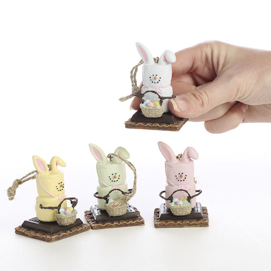 Smores Marshmallow Bunny Ornaments Christmas Ornaments