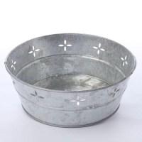 Decorative Galvanized Metal Tub - Baskets, Buckets ...