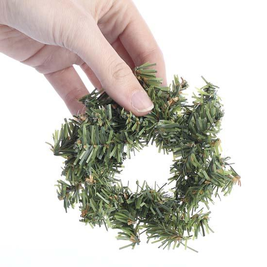Mini Artificial Pine Wreath Holiday Florals Christmas