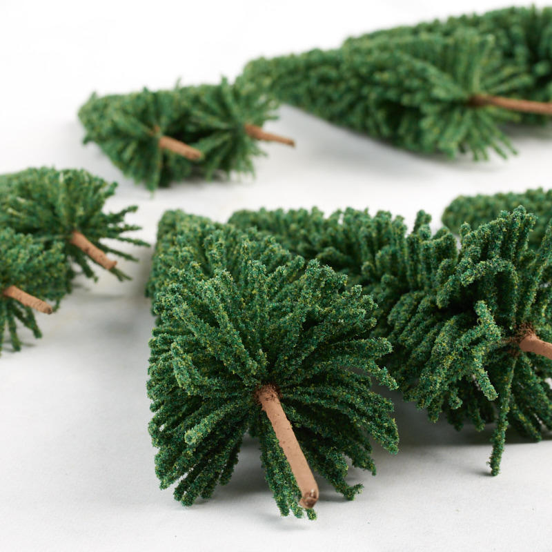 Miniature Frosted Artificial Pine Trees Christmas