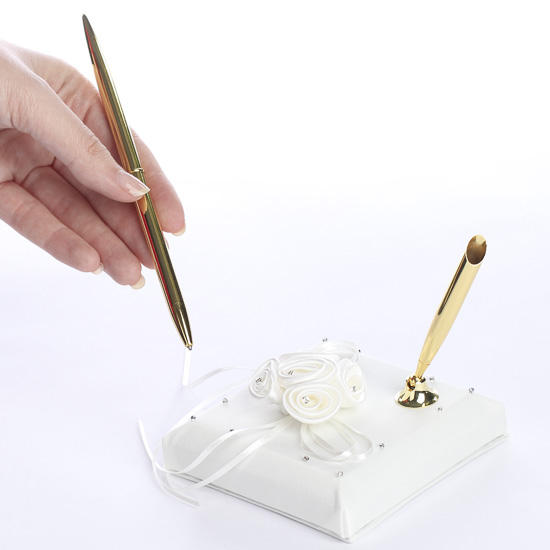 Candlelight Wedding Pen Set
