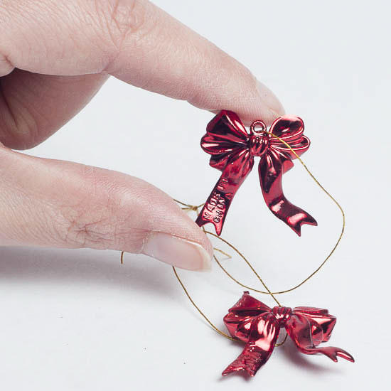 christmas bow ornaments
