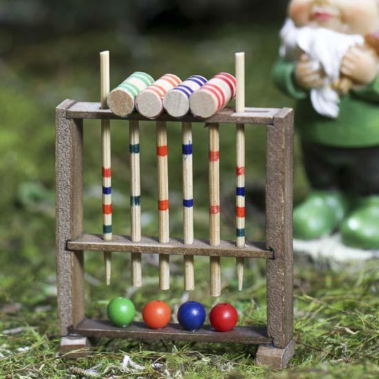 dollhouse miniature vintage croquet