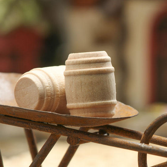Miniature Wood Barrels  Wood Miniatures  Unfinished Wood  Craft Supplies