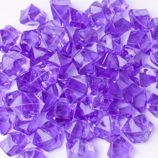 Purple Acrylic Ice Rock Gems  Confetti  Table Scatters