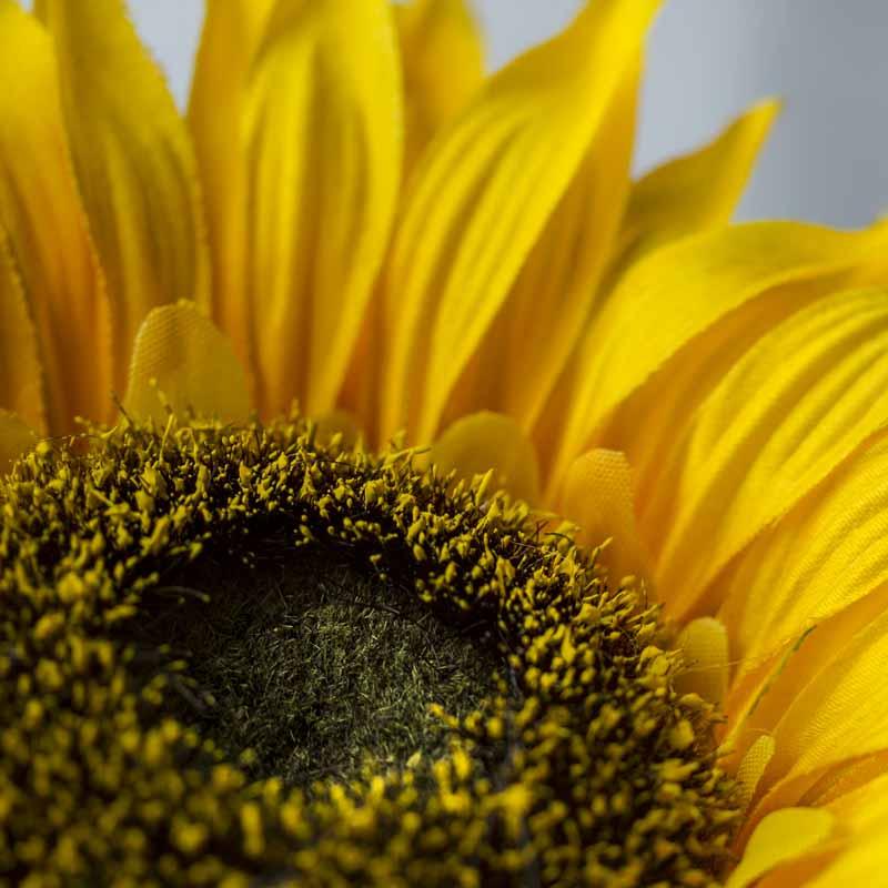 Flocked Artificial Sunflower Stem  Fall Florals  Floral Supplies  Craft Supplies