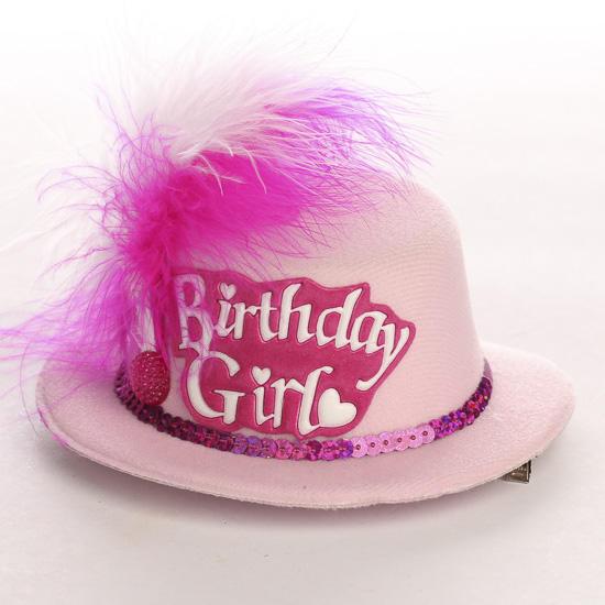 "Mini ""Birthday Girl"" Clip On Hat Doll Hats Doll"