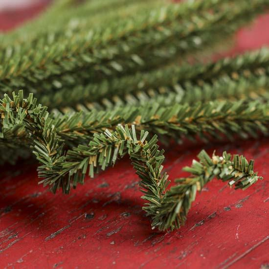 Wired Artificial Canadian Pine Stems Holiday Florals